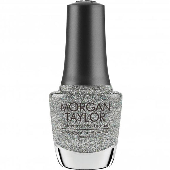 Morgan Taylor Nail Lacquer sprinkle of twinkle - silver glitter 15 mL | .5 fl oz #367