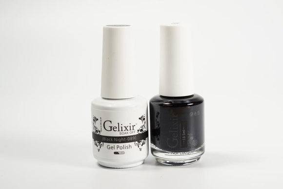 Gelixir Duo Gel & Lacquer Black Night 1 PK #089