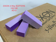 Load image into Gallery viewer, D13 Dixon buffer 3 way Purple White grit 100/180 500 pcs-Beauty Zone Nail Supply