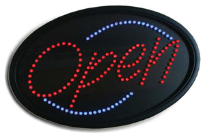 LED OPEN SIGN OVAL #LED5