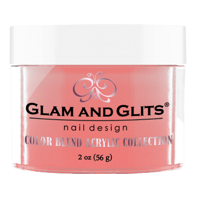 Glam & Glits Acrylic Powder Color Blend Peach Please 2 Oz- Bl3022-Beauty Zone Nail Supply