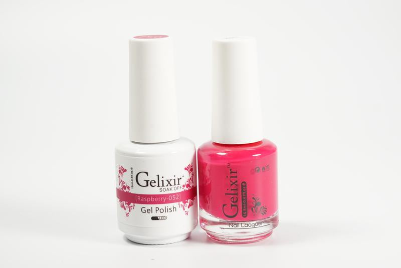 Gelixir Duo Gel & Lacquer Raspberry 1 PK #052-Beauty Zone Nail Supply