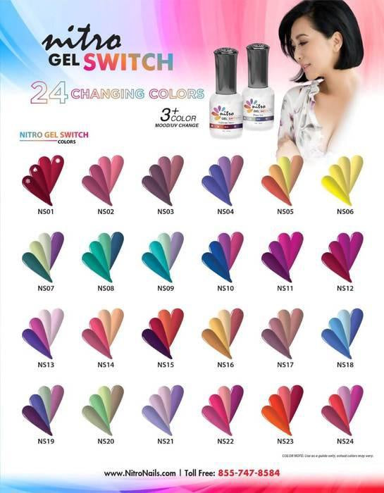 Nitro Gel Polish Switch Color Mood Eclipse 0.5 oz #NS13-Beauty Zone Nail Supply