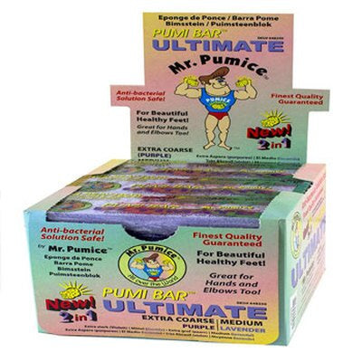 Mr. Pumice Pumi bar Ultimate 2 color (Box 12 pc) #648250-Beauty Zone Nail Supply