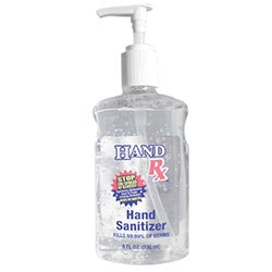 Hand Sanitizer Rx with Pump 8 oz 148P-Beauty Zone Nail Supply