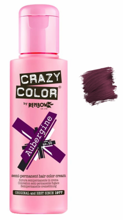 Crazy Color vibrant Shades -CC PRO 50 AUBERGINE 150ML-Beauty Zone Nail Supply
