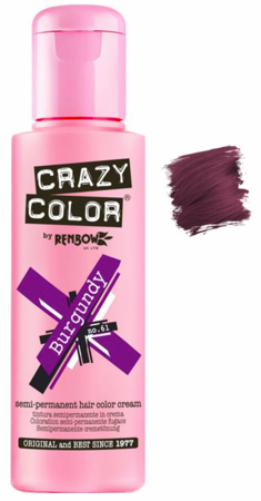 Crazy Color vibrant Shades -CC PRO 61 BURGUNDY 150ML-Beauty Zone Nail Supply