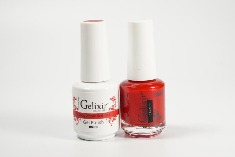 Gelixir Duo Gel & Lacquer Candy Apple Red 1 PK #043-Beauty Zone Nail Supply