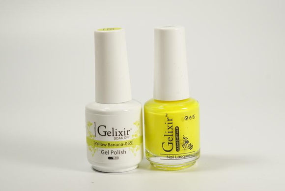 Gelixir Duo Gel & Lacquer Yellow Banana 1 PK #065