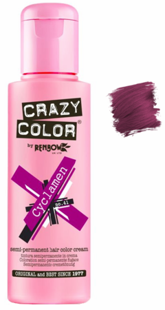 Crazy Color vibrant Shades -CC PRO 41 CYCLAMEN 150ML-Beauty Zone Nail Supply