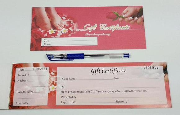 Gift certificate with number 0 #9552-0418