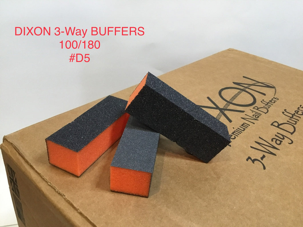 #05 Dixon buffer 3 way Orange Black grit 100/180 - BeautyzoneSupply