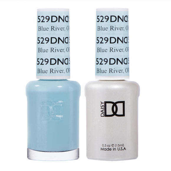 DND Duo Gel & Lacquer Blue River #529
