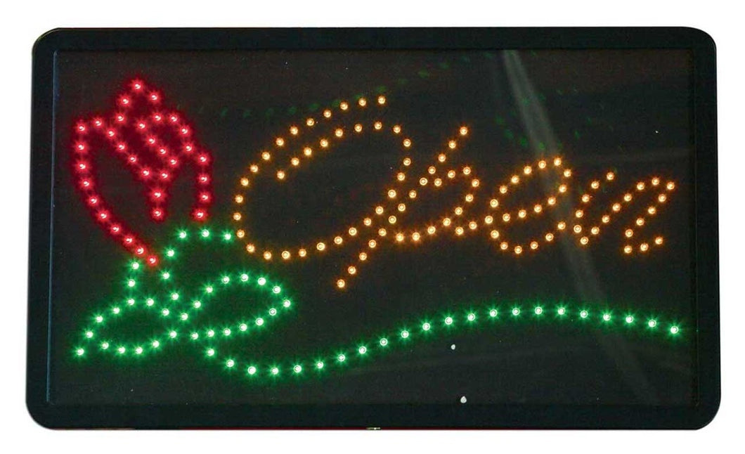 LED OPEN SIGN WITH ROSE #LED1