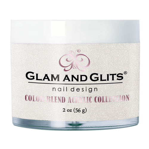 Glam & Glits Acrylic Powder Color Blend (Glitter) 2 oz Ice Breaker - BL3093-Beauty Zone Nail Supply
