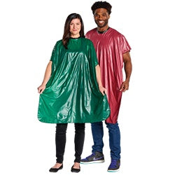 Vinyl Shampoo Cape - Tie-String Neck Closure 3001