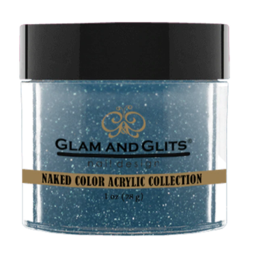 Glam & Glits Naked Color Acrylic Powder (Shimmer) 1 oz Teal Me In - NCAC434-Beauty Zone Nail Supply