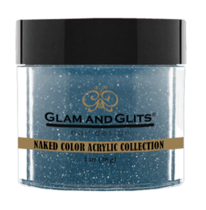 Glam & Glits Naked Color Acrylic Powder (Shimmer) 1 oz Teal Me In - NCAC434