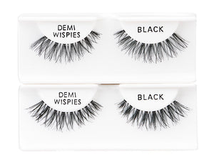 Ardell Strip Lash Natural Demi Wispies 6-Pack Black #60066-Beauty Zone Nail Supply