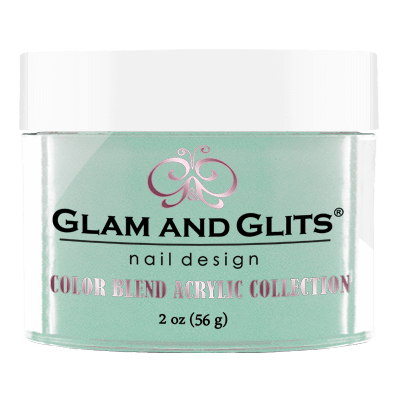 Glam & Glits Acrylic Powder Color Blend Teal Of Approval 2 Oz- Bl3027-Beauty Zone Nail Supply