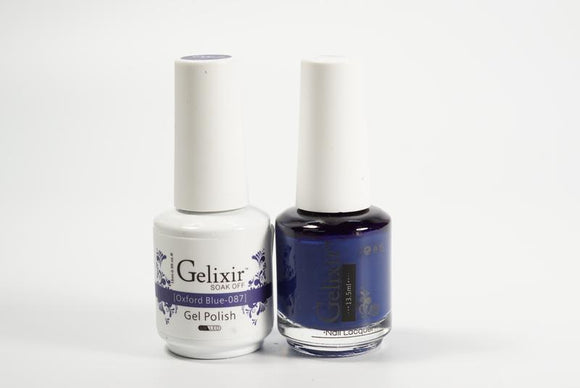 Gelixir Duo Gel & Lacquer Oxford Blue 1 PK #087