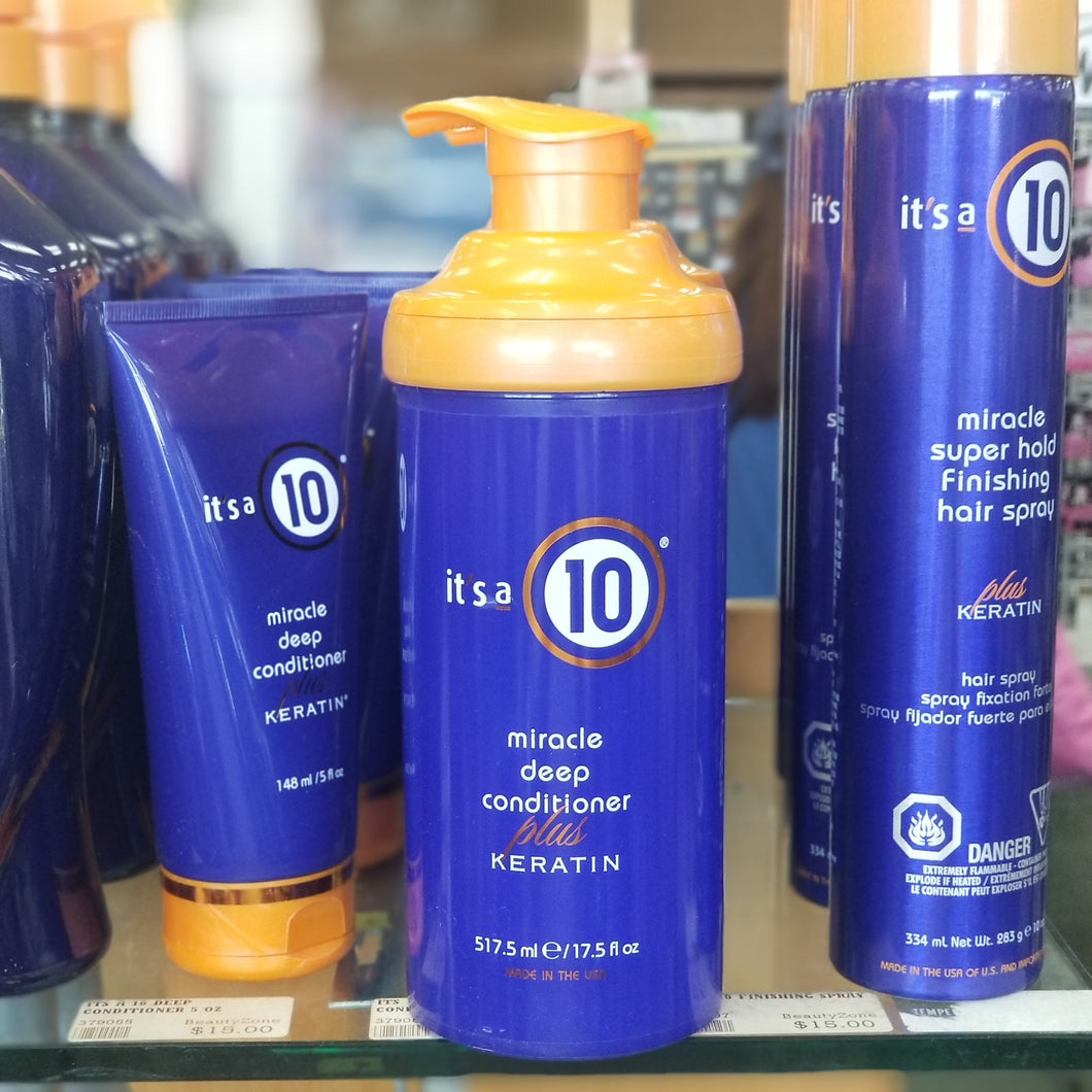 It's A 10 Miracle Deep Conditioner Plus Keratin 17.5 oz-Beauty Zone Nail Supply