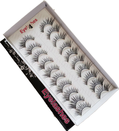 BeautyZone Best Fake False Eyelashes 10 Pair #04