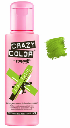Crazy Color vibrant Shades -CC PRO 68 LIME TWIST 150ML-Beauty Zone Nail Supply