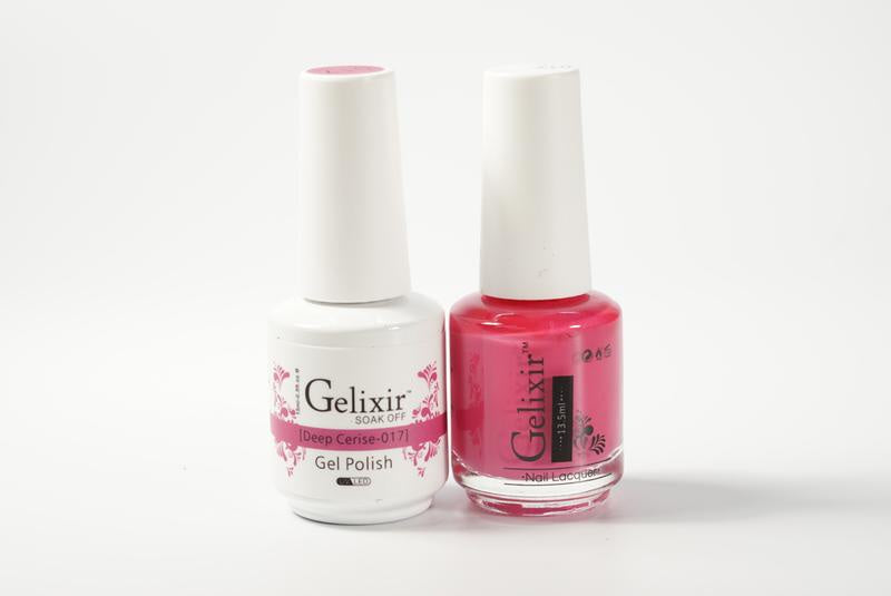 Gelixir Duo Gel & Lacquer Deep Cerise 1 PK #017-Beauty Zone Nail Supply