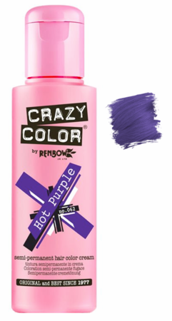 Crazy Color vibrant Shades -CC PRO 62 HOT PURPLE 150ML-Beauty Zone Nail Supply