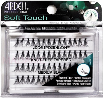Ardell Soft Touch Individual Knot-Free Medium Black #68284-Beauty Zone Nail Supply