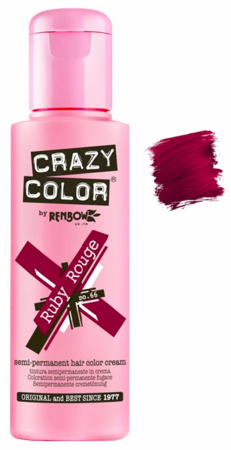 Crazy Color vibrant Shades -CC PRO 66 RUBY ROUGE 150ML-Beauty Zone Nail Supply
