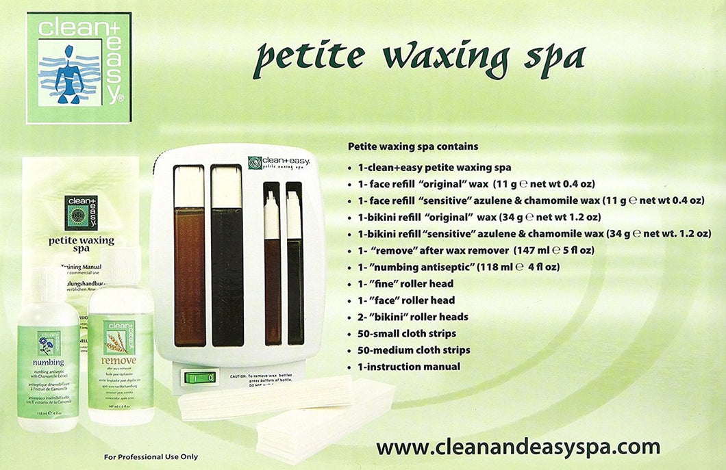 Clean & Easy Waxing Spa Petite Kit #40007-Beauty Zone Nail Supply