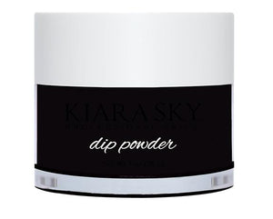 Kiara Sky DIP POWDER -D435 BLACK TO BLACK