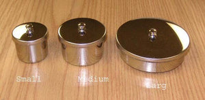 Stainless steel powder dish Medium