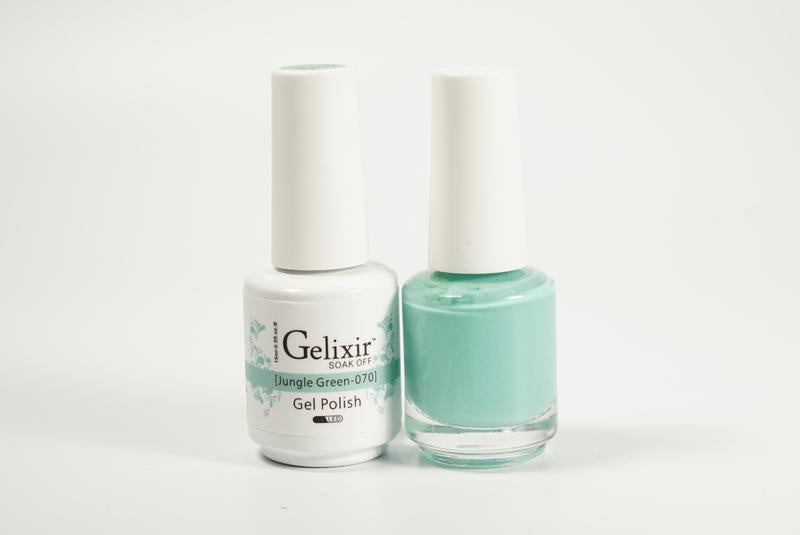 Gelixir Duo Gel & Lacquer Jungle Green 1 PK #070-Beauty Zone Nail Supply