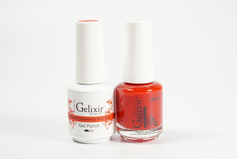 Gelixir Duo Gel & Lacquer Boston University Red 1 PK #040-Beauty Zone Nail Supply