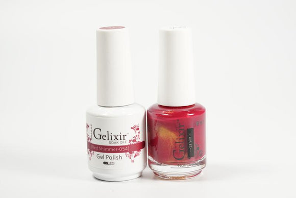 Gelixir Duo Gel & Lacquer Red Shimmer 1 PK #054