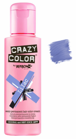 Crazy Color vibrant Shades -CC PRO 55 LILAC 150ML-Beauty Zone Nail Supply