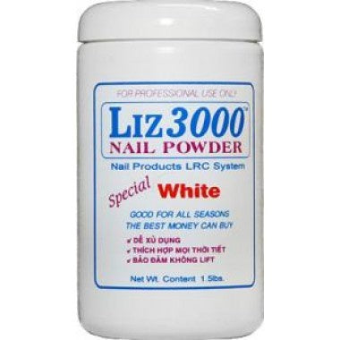 LIZ 3000 POWDER WHITE 1.5 LBS #38-Beauty Zone Nail Supply