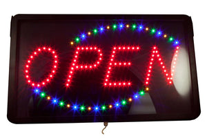 LED OPEN SIGN WITH OVAL #LED2