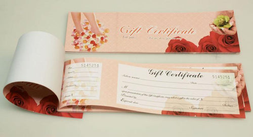 Gift Certificate with Number 0 #9552-0417B