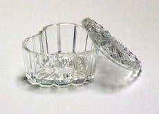 Crystal Heart Shaped Dish Jar #HDC