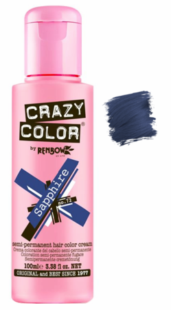 Crazy Color vibrant Shades -CC PRO 72 SAPPHIRE 150ML-Beauty Zone Nail Supply