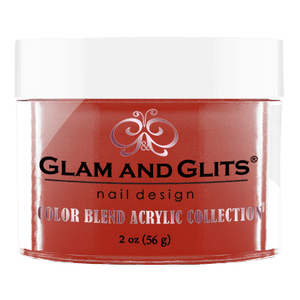 Glam & Glits Acrylic Powder Color Blend Caught Red Handed 2 Oz- Bl3042