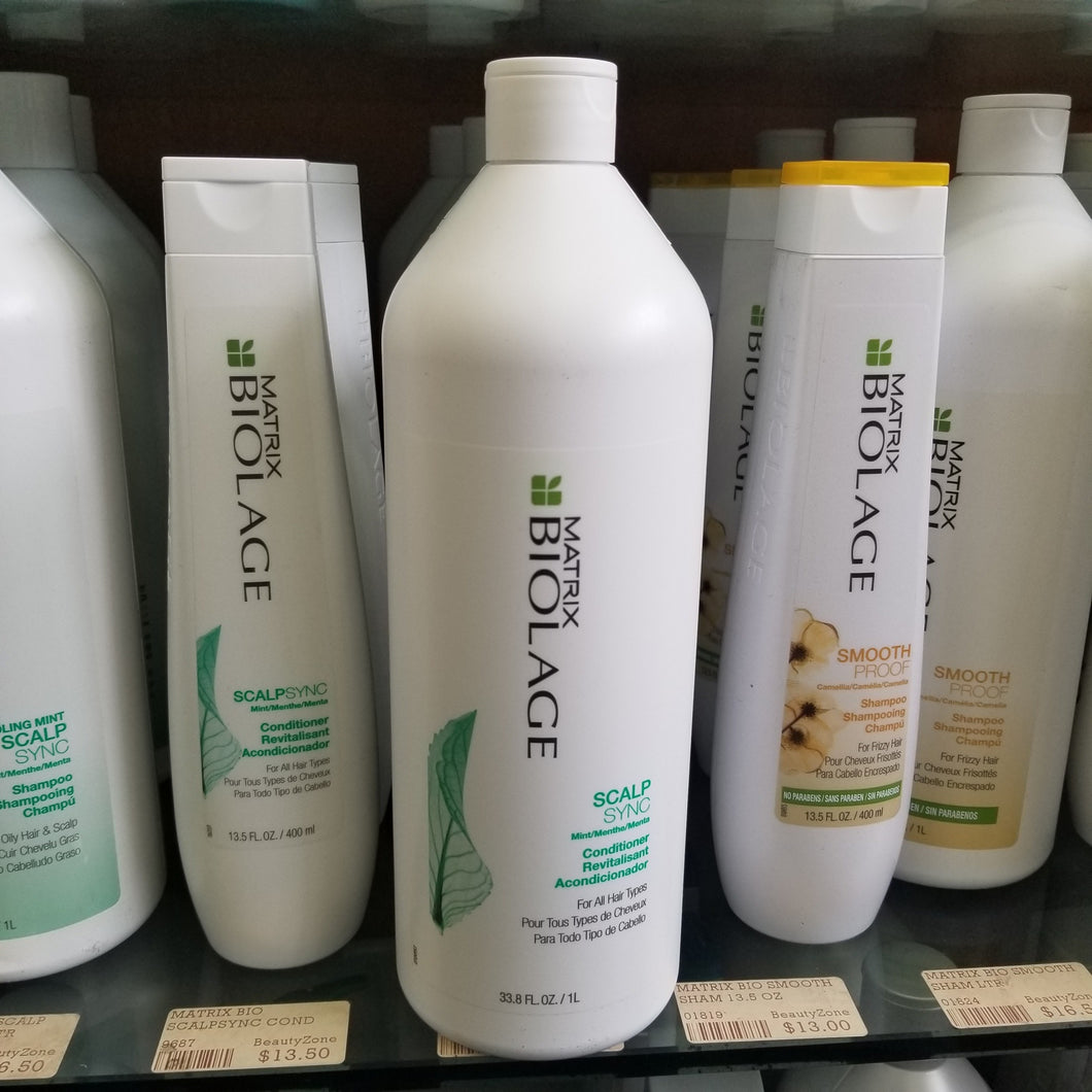 MATRIX BIOLAGE SCALPSYNC COOLING MINT CONDITIONER 33.8 OZ #04904 - BeautyzoneNailSupply