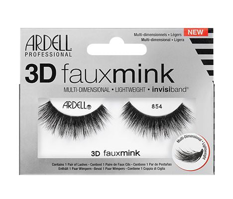 Ardell 3D Faux Mink Lash 854 #67450-Beauty Zone Nail Supply