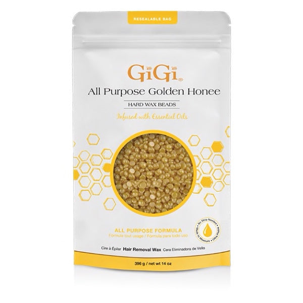 Gigi Wax All Purpose Golden Honee Wax Beads 14oz 67985-Beauty Zone Nail Supply