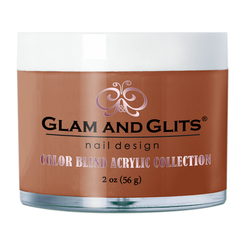 Glam & Glits Acrylic Powder Color Blend (Cream) 2 oz Hot Fudge - BL3081-Beauty Zone Nail Supply