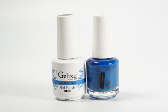 Gelixir Duo Gel & Lacquer Sea Blue 1 PK #080